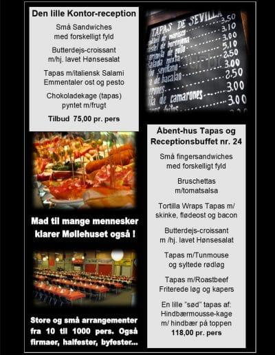 tapas menu ud af huset
